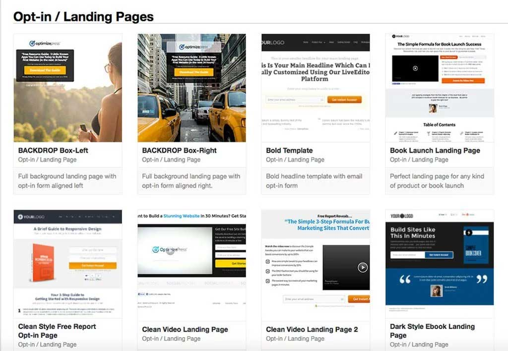 examples of landing pages optimizepress